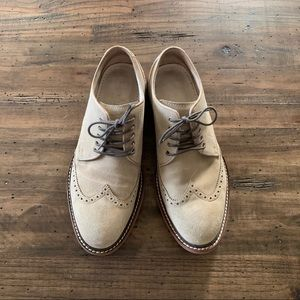 Cole Haan Suede shoes. Beige. Nike soles. Size 8.5
